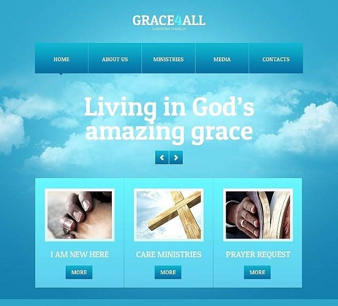 Template Moto CMS HTML para Sites de Cristão №49038 New Screenshots BIG