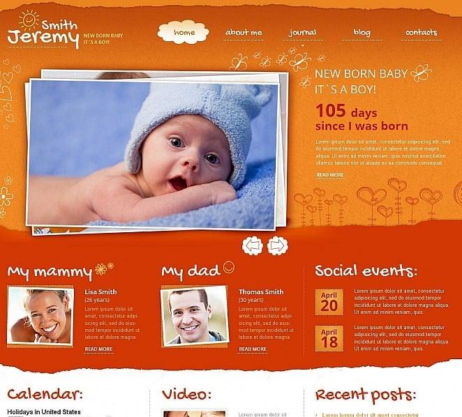 Luxusní Moto CMS HTML šablona na téma Novorozené New Screenshots BIG