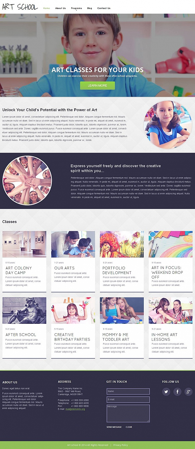 Website Template to Promote Kids Art Classes - image