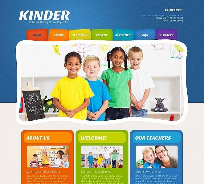 Template Moto CMS HTML para Sites de Centro para Crianças №49043 New Screenshots BIG
