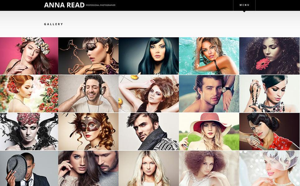 Bootstrap Fényképész portfóliók Weboldal sablon New Screenshots BIG