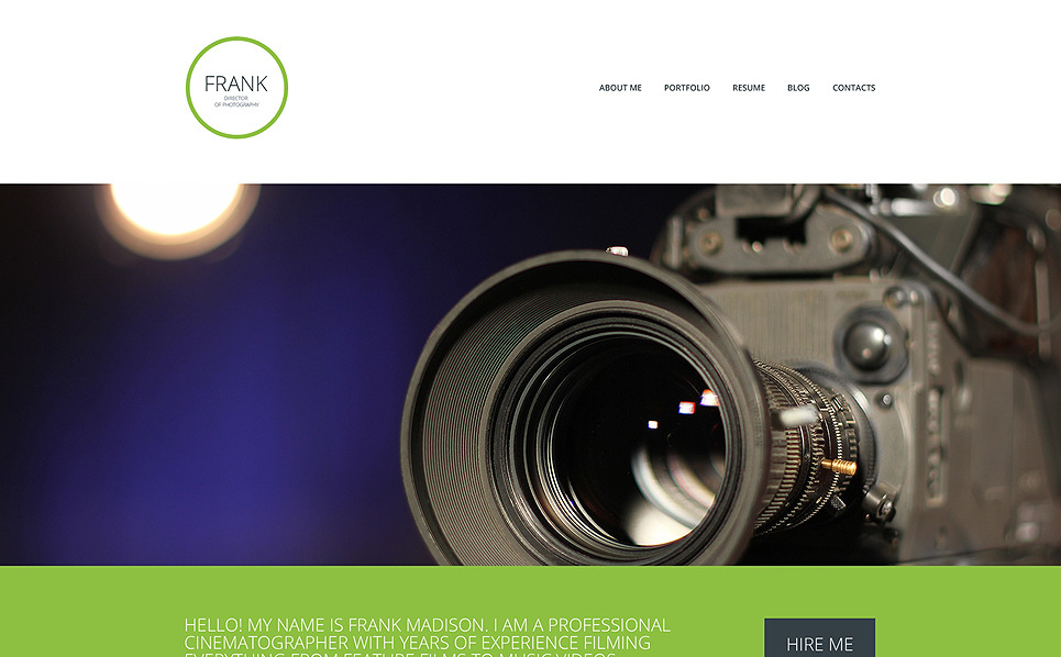 Modèle Web adaptatif  pour portfolio de photographe New Screenshots BIG