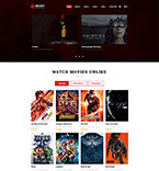 Entertainment Website  Template 49053