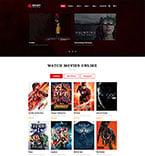 Entertainment Website  Template 49053