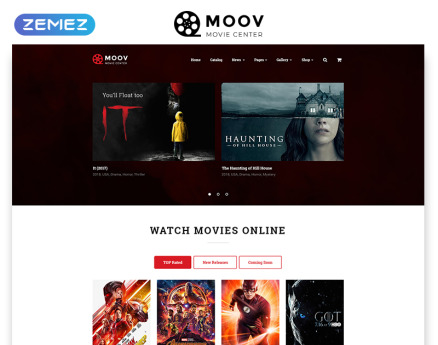 MOOV - Movie Center Multipage Classic HTML Website Template
