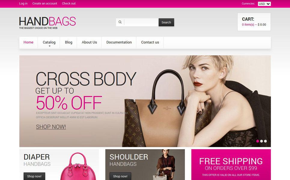 Responsywny szablon Shopify #49056 na temat: torebki New Screenshots BIG