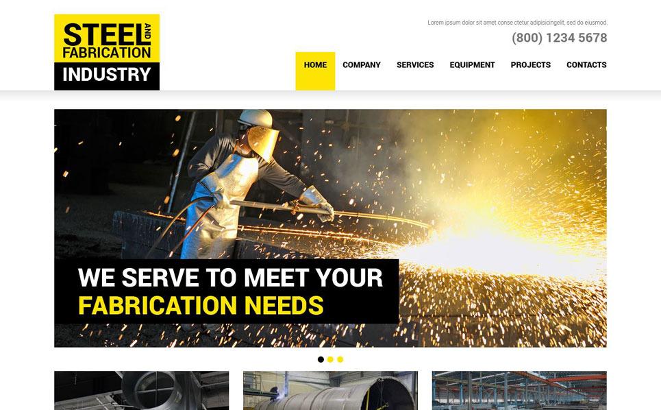 Responsive Website Vorlage für Stahlwerk  New Screenshots BIG