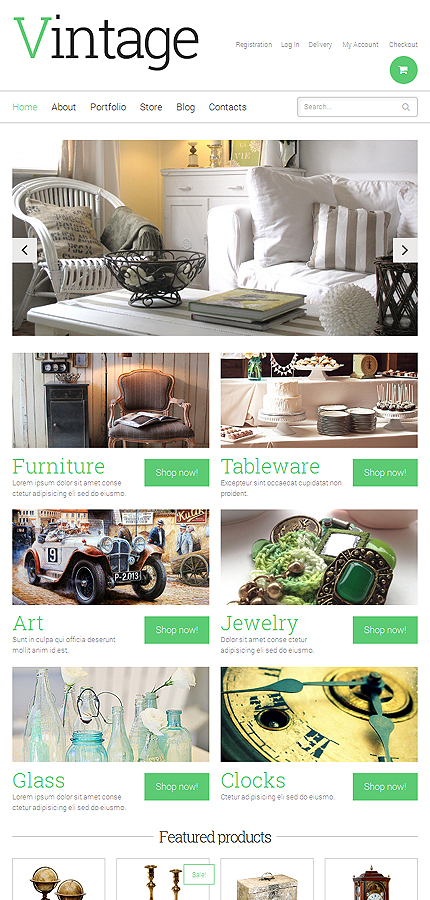 ADOBE Photoshop Template 49069 Home Page Screenshot