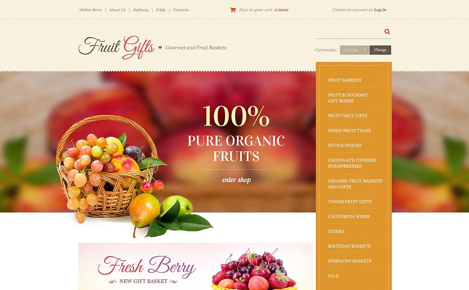Szablon VirtueMart #49075 na temat: sklep z żywnością New Screenshots BIG