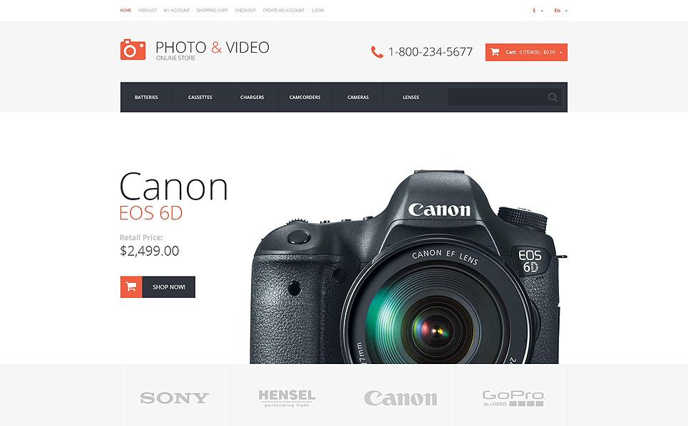 Reszponzív Videotékák OpenCart sablon New Screenshots BIG