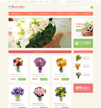 Flowers OpenCart  Template 49087