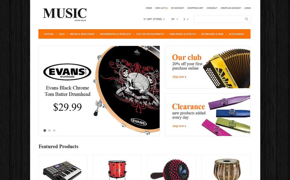Responsive OpenCart Vorlage für Musikshop  New Screenshots BIG