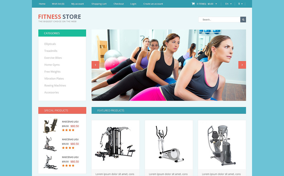 Reszponzív Fitnessz OpenCart sablon New Screenshots BIG