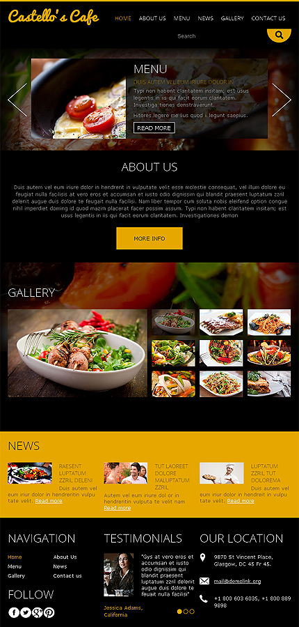 Joomla Theme/Template 49096 Main Page Screenshot