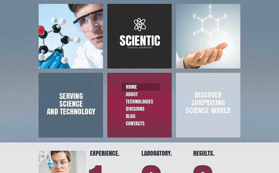Szablon Drupal #49099 na temat: laboratorium naukowe New Screenshots BIG