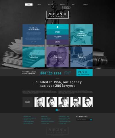 Адаптивный WordPress шаблон №49007 на тему юридическая фирма #49007