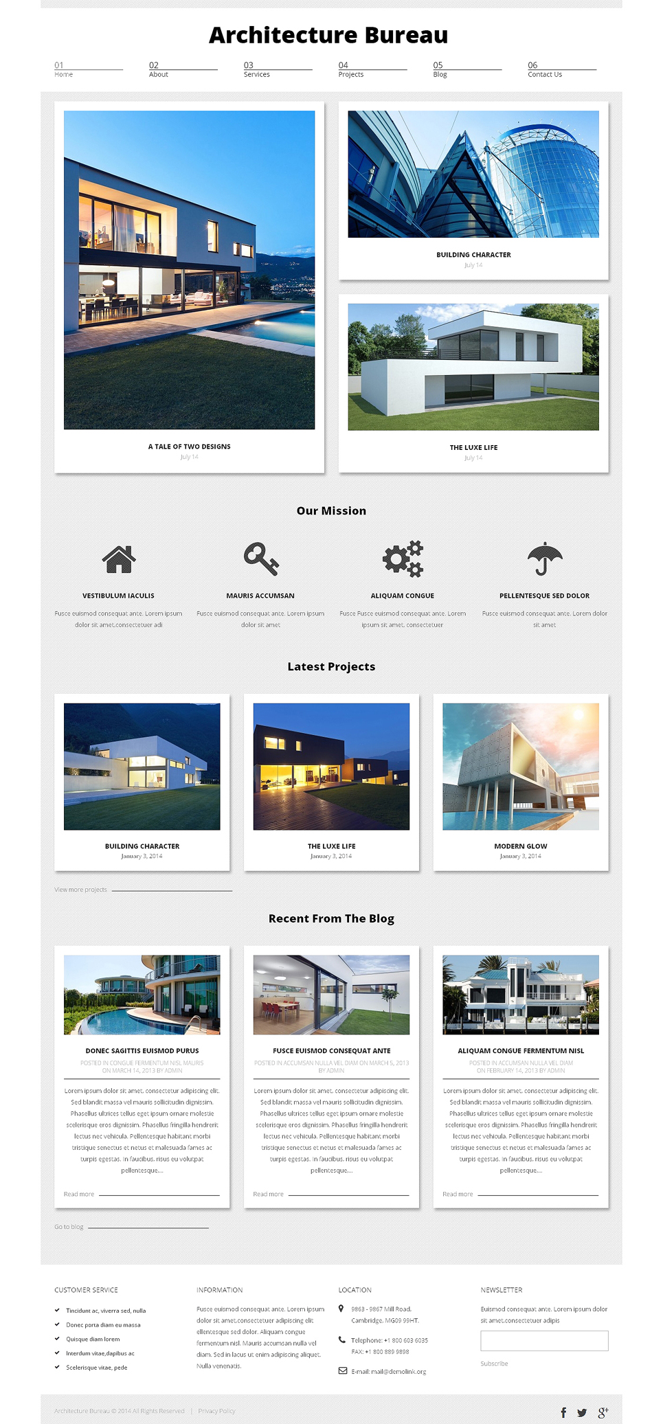 Адаптивный шаблон сайта на тему архитектура #49013