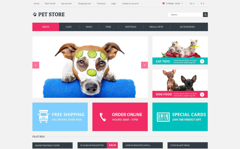Animals Pets OpenCart Template