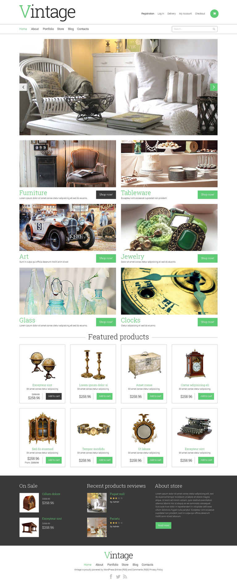 Antique Store WooCommerce Theme New Screenshots BIG