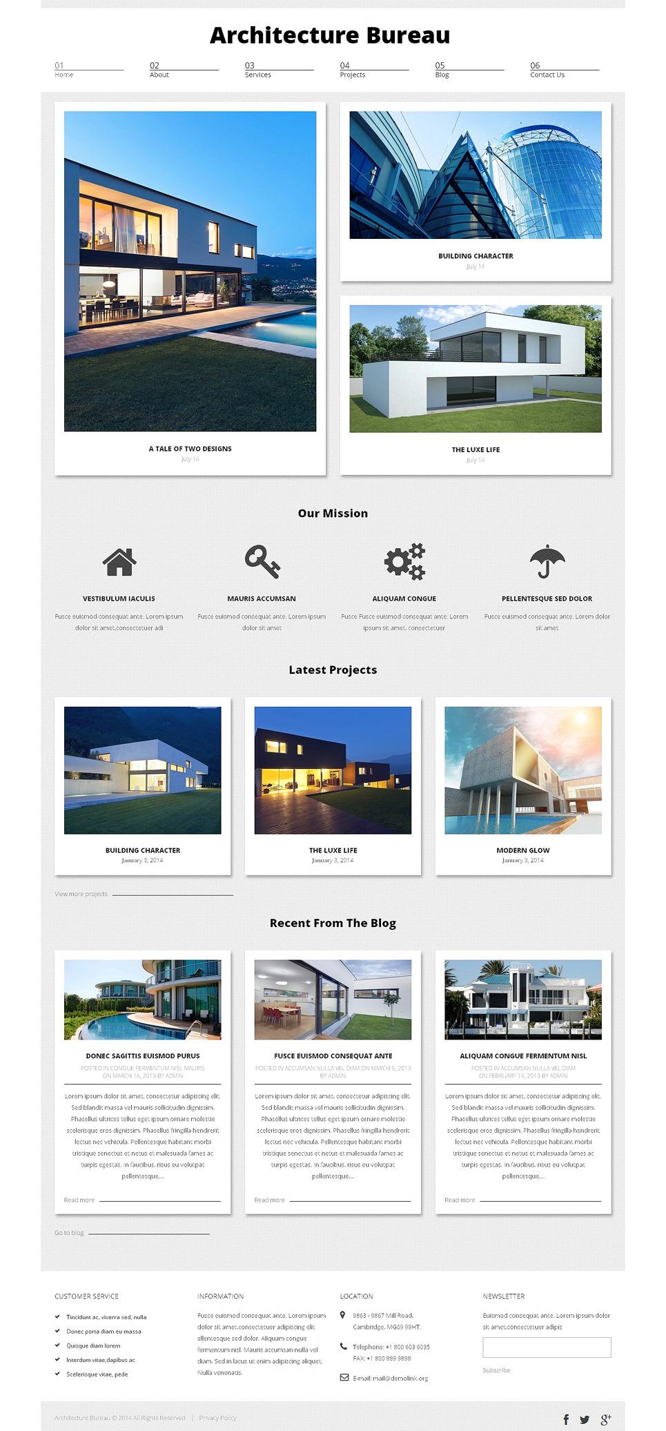 Architecture Bureau WordPress Theme New Screenshots BIG