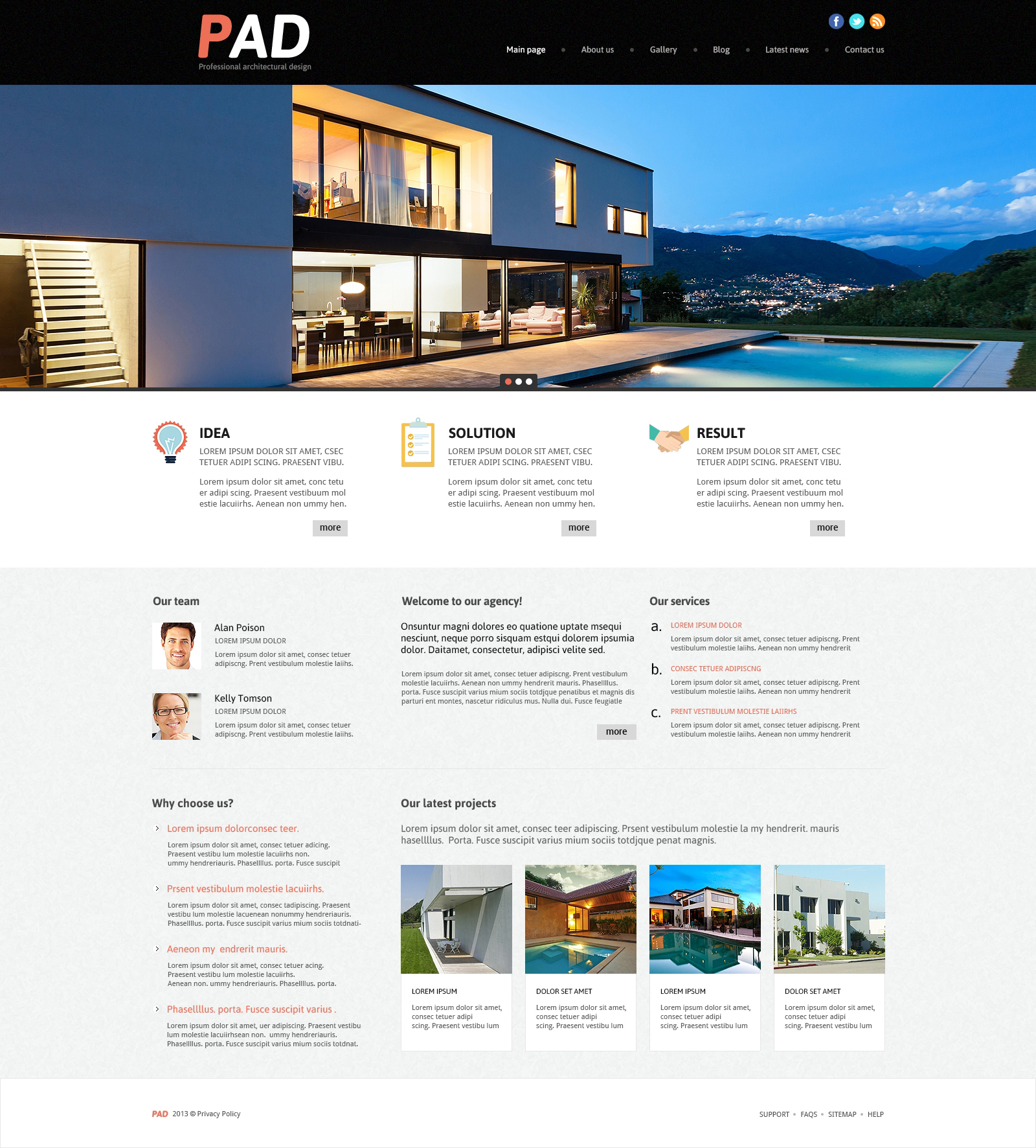 architecture joomla template 49098. Black Bedroom Furniture Sets. Home Design Ideas
