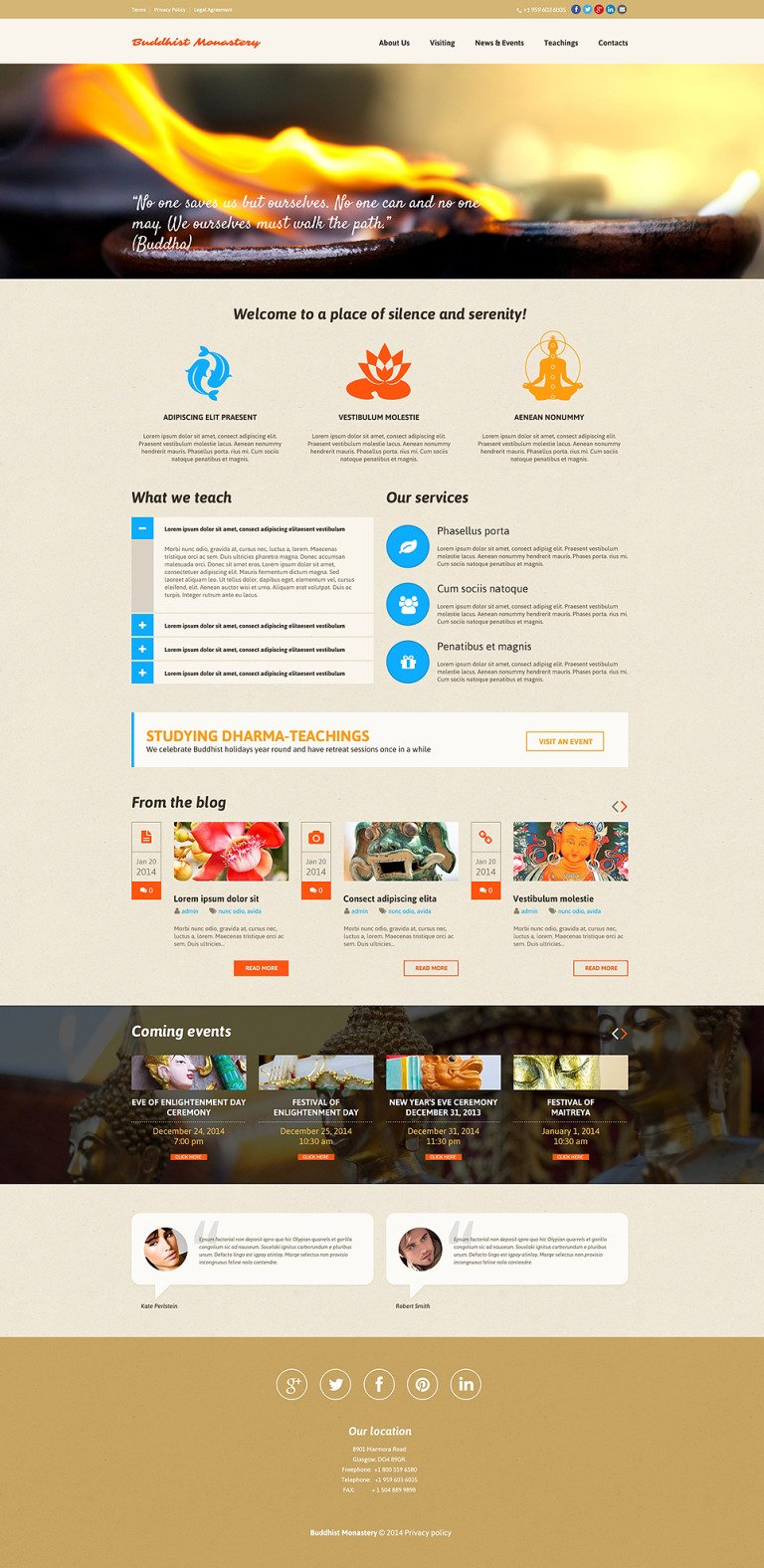 Buddhist Responsive Website Template New Screenshots BIG