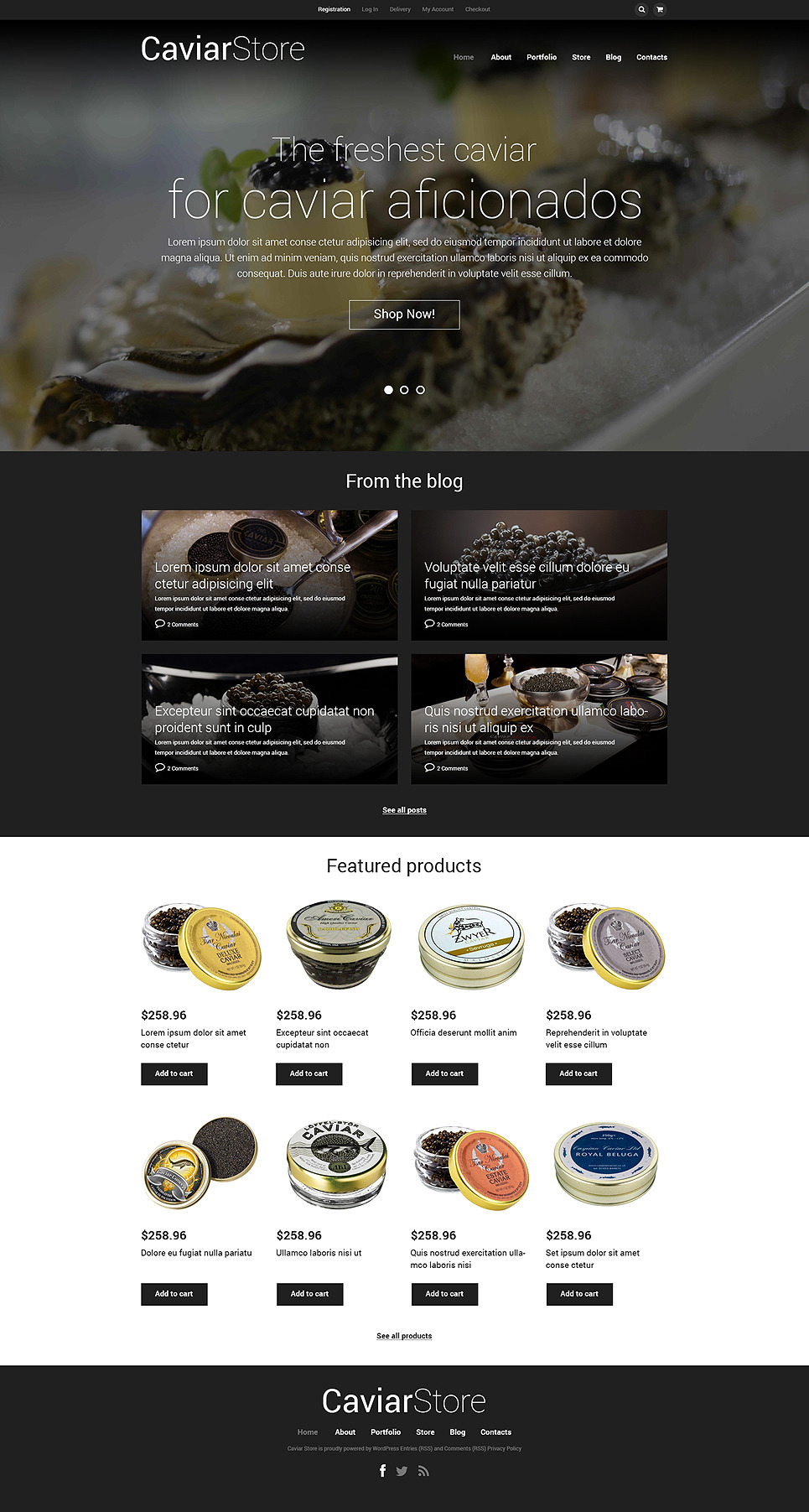 Caviar Online Store WooCommerce Theme New Screenshots BIG