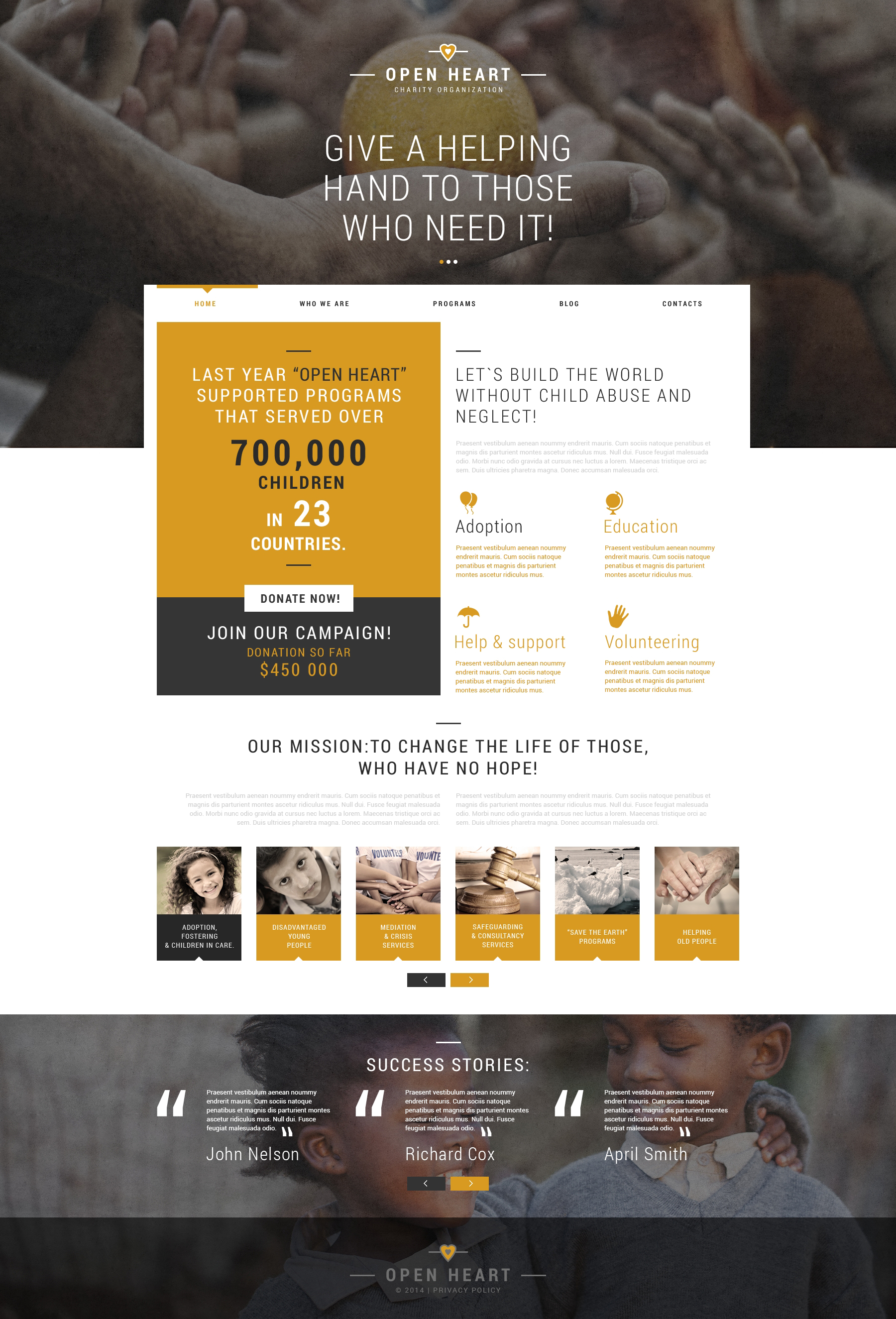 Charity Association Joomla Template