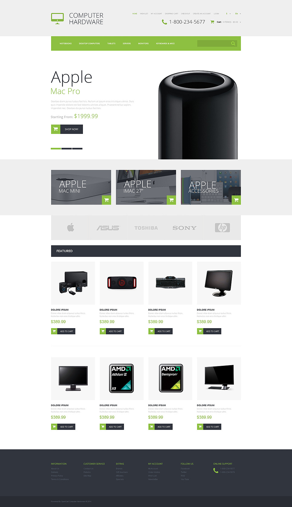 Computer Hardware OpenCart Template New Screenshots BIG