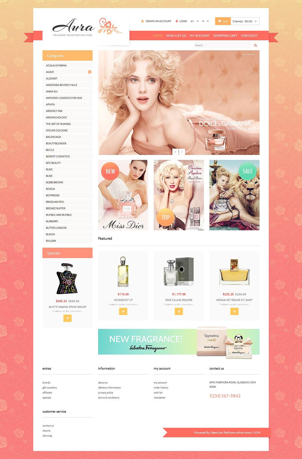 Cosmetics Store Responsive OpenCart Template New Screenshots BIG