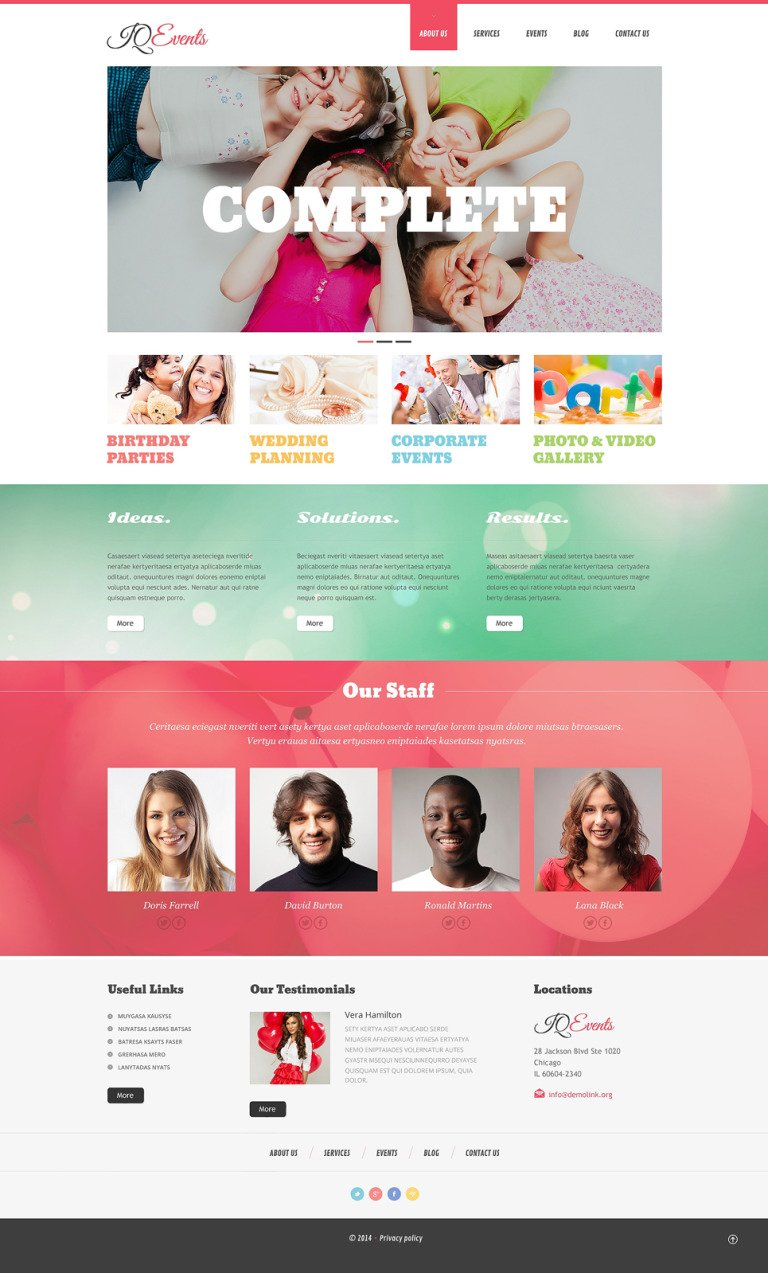 Event Planner Responsive WordPress Theme New Screenshots BIG