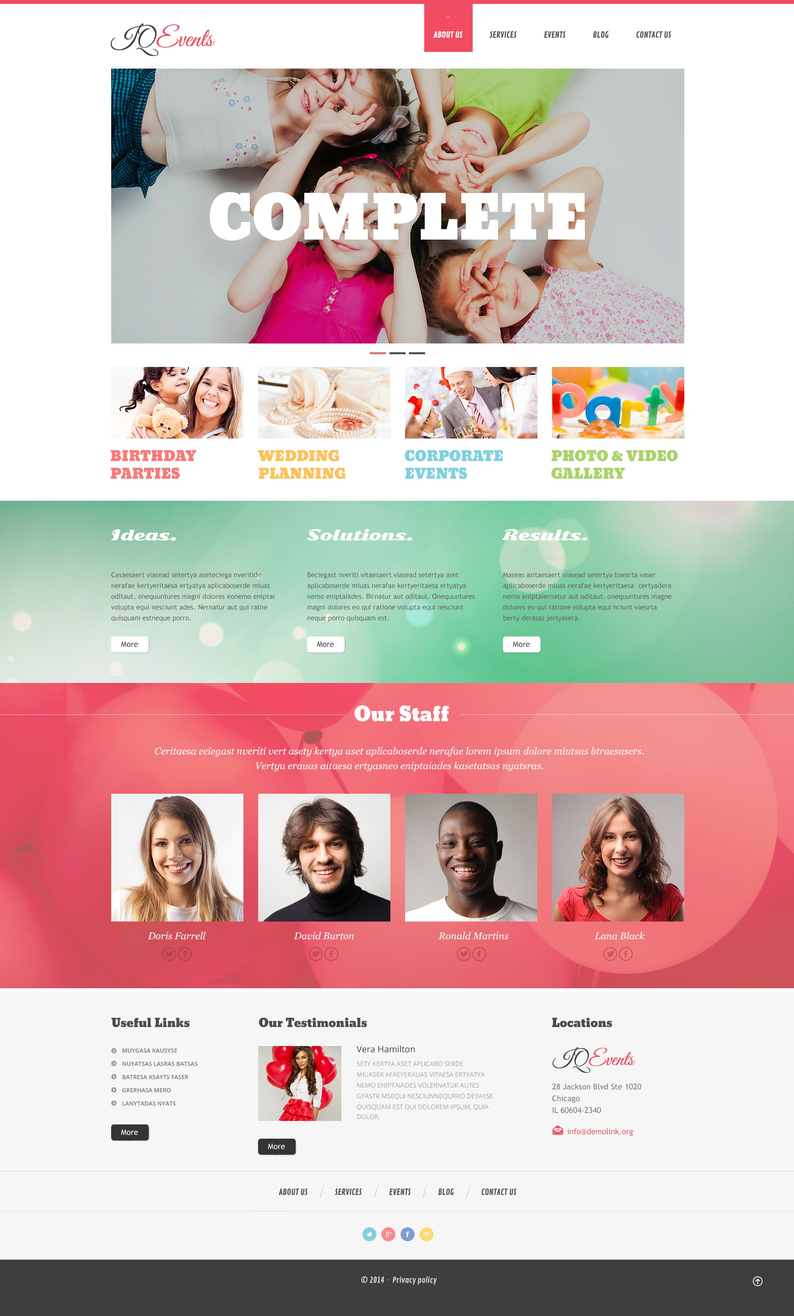 Event Planner Responsive WordPress Theme - screenshot