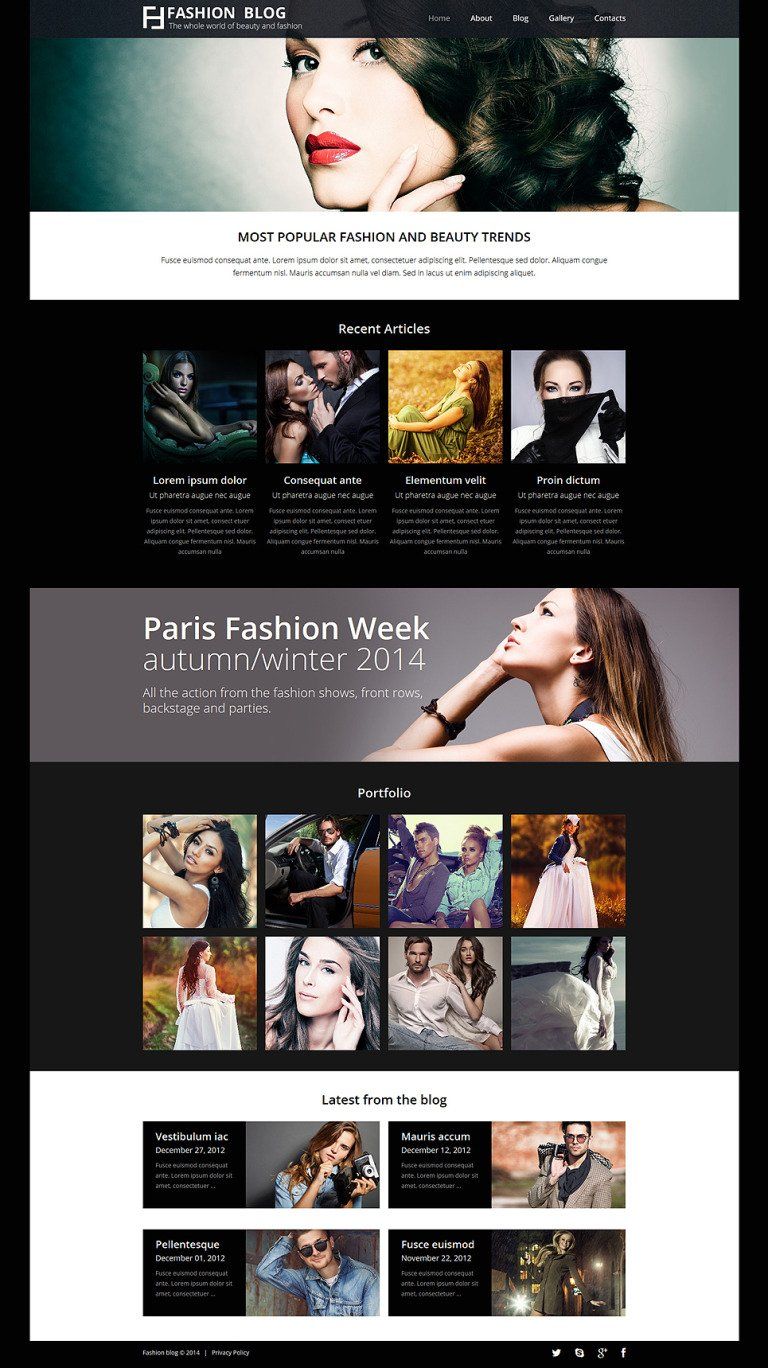 Fashionista's Guide Joomla Template New Screenshots BIG