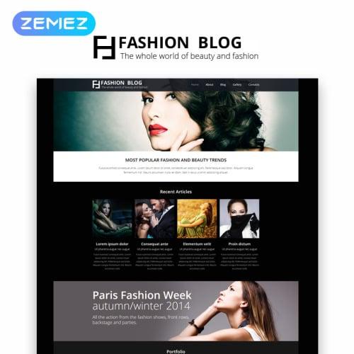 Fashion Blog - Joomla! Template based on Bootstrap