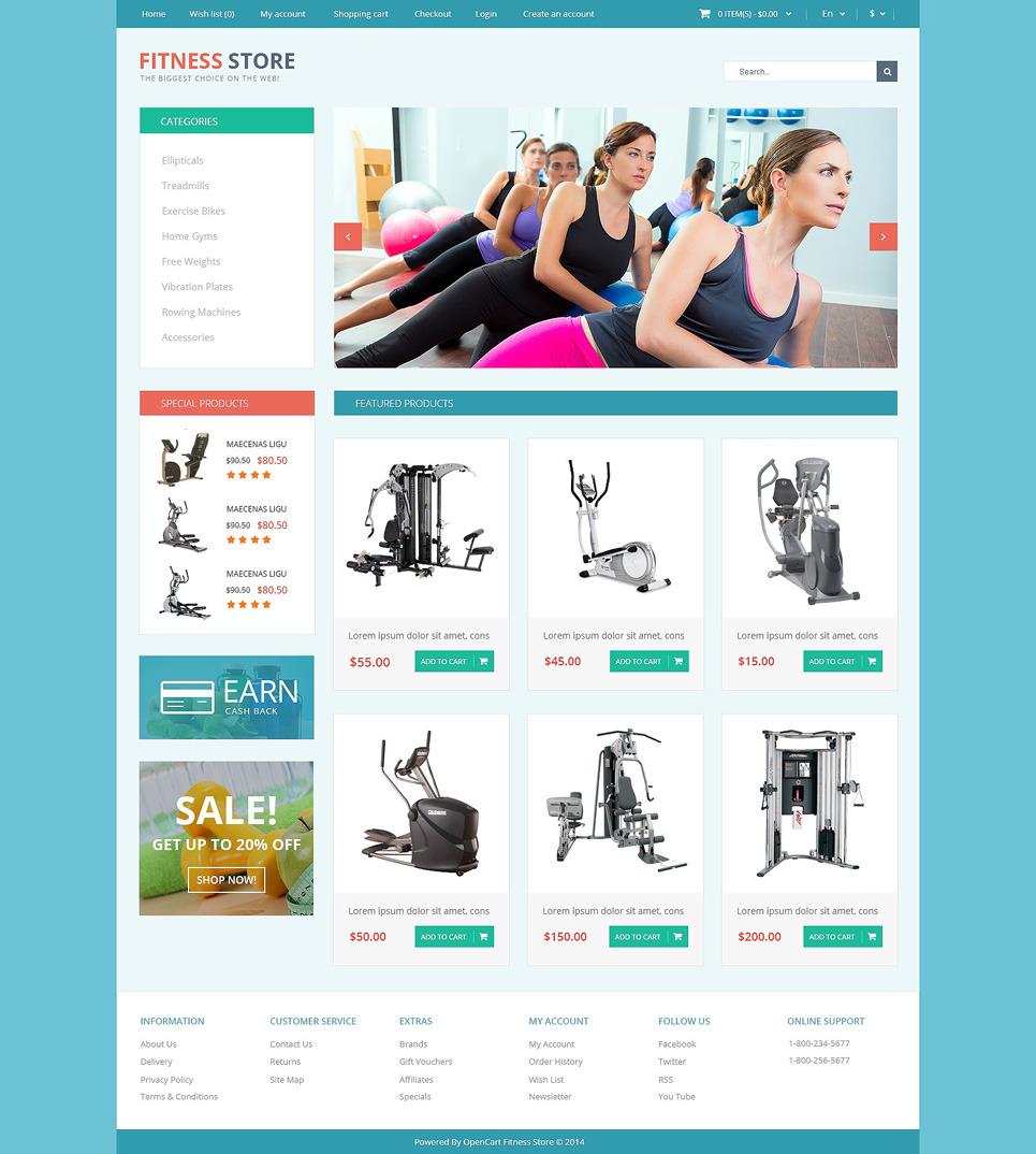 Fitness for Life OpenCart Template New Screenshots BIG