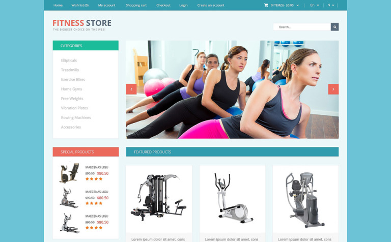 Fitness for Life OpenCart Template