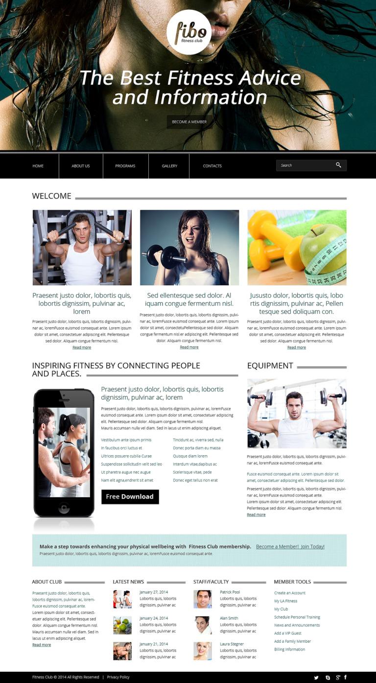Fitness Responsive Website Template New Screenshots BIG