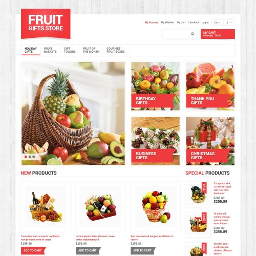 Fruit Gifts Store - Responsive Magento Template