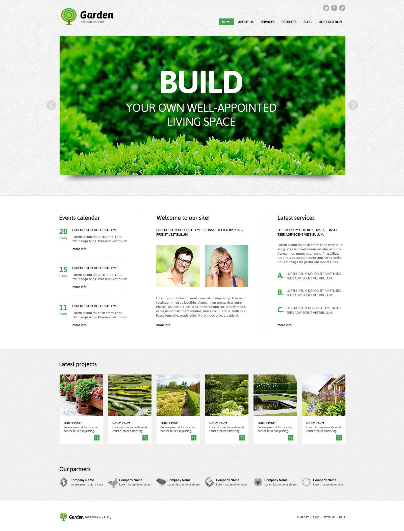 Garden Design Responsive WordPress Theme - screenshot