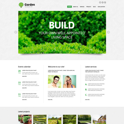 Garden Landscape - WordPress Template based on Bootstrap