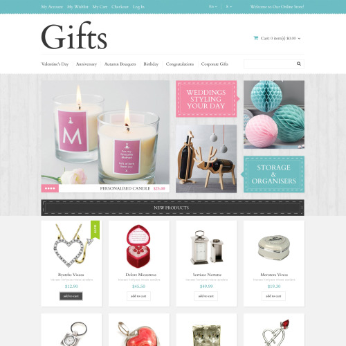 Gifts - Responsive Magento Template