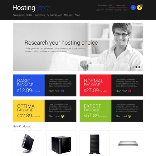 Hosting Store - Responsive Magento Template