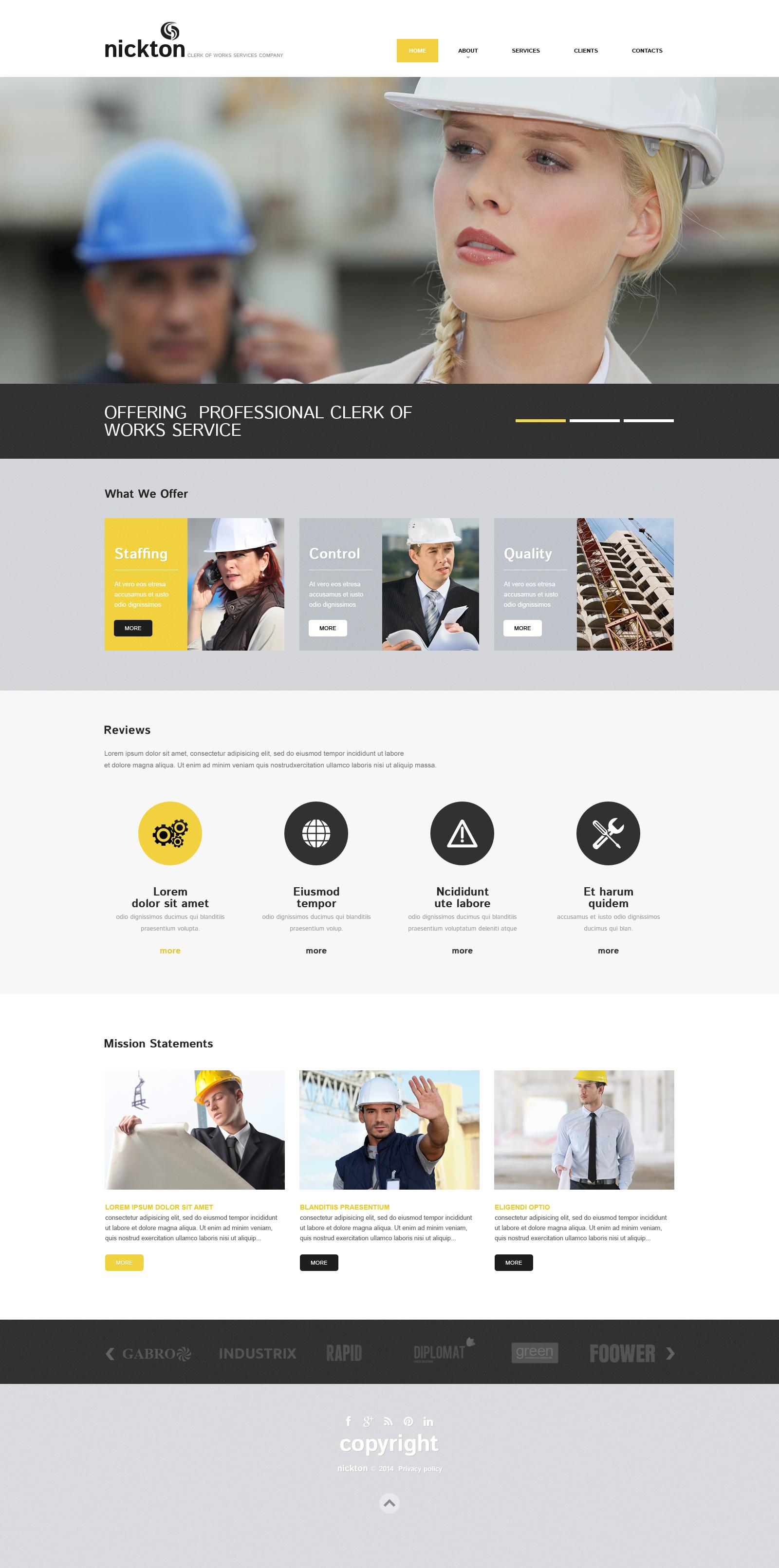 Industrial Responsive Website Template 49071