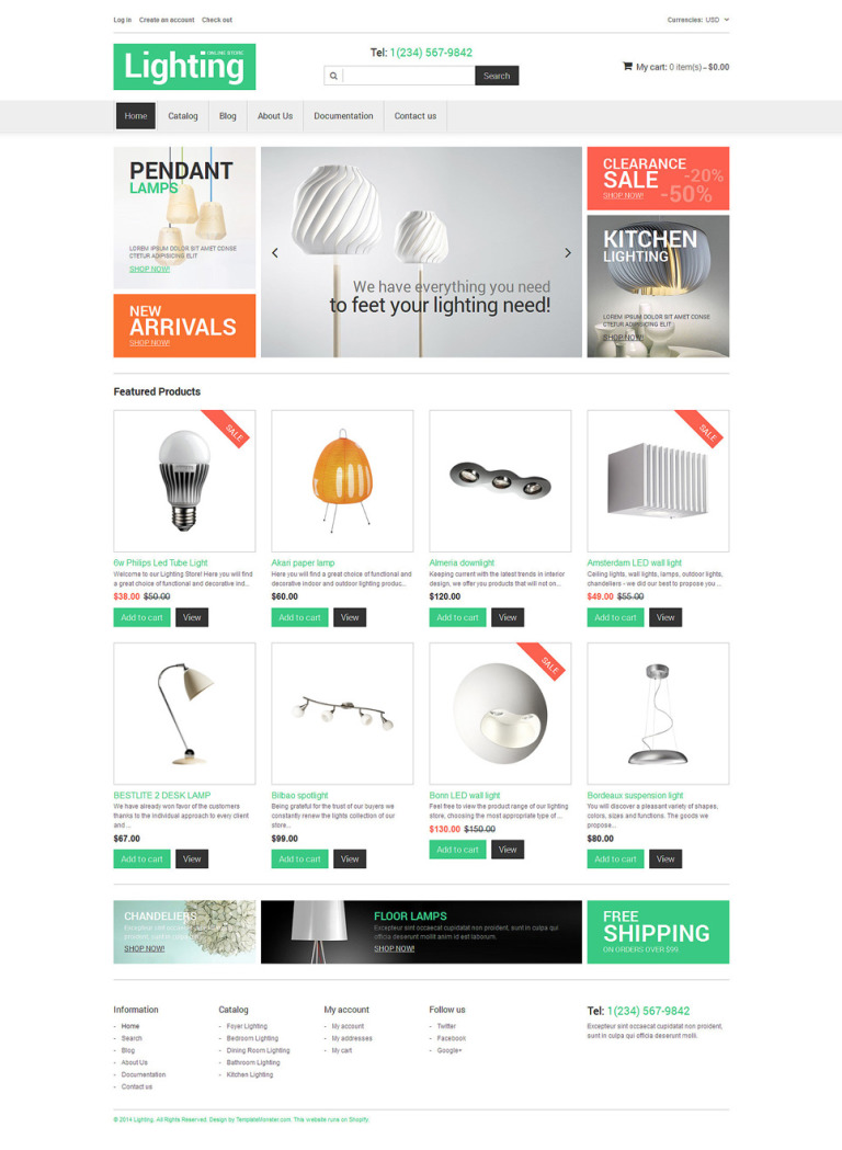 Interior Design Responsive Shopify Theme New Screenshots BIG