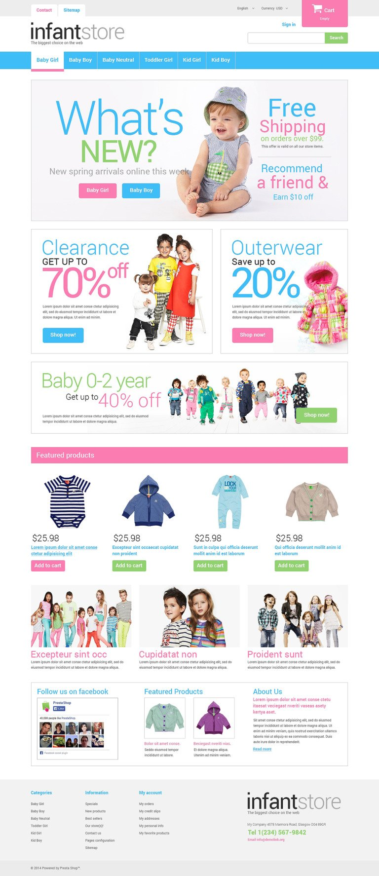Just for Kids PrestaShop Theme New Screenshots BIG