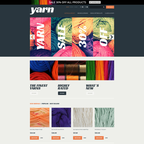 Yarn   - PrestaShop Template based on Bootstrap
