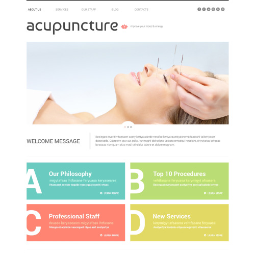 Acupuncture - WordPress Template based on Bootstrap