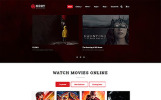 """MOOV - Movie Center Multipage Classic HTML"" modèle web adaptatif"
