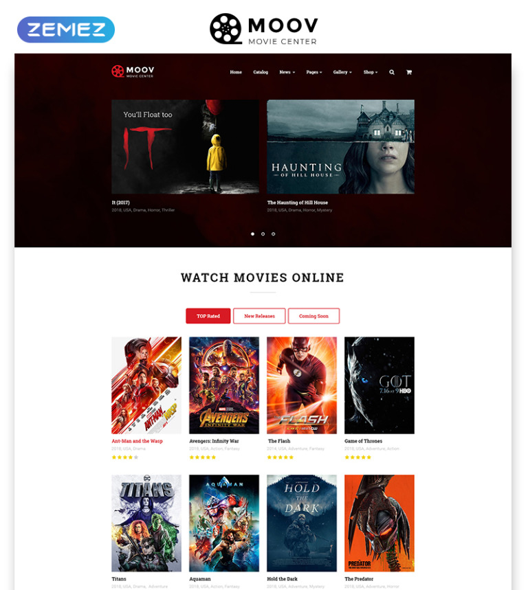 Movie Center Multipage Html Template