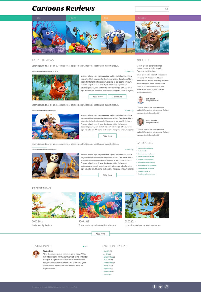 Movie Drupal Template New Screenshots BIG